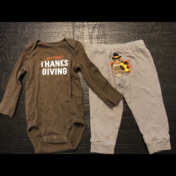 9e1f069d8 Carter's Matching Sets | Carters First Thanksgiving Outfit Size 12 ...